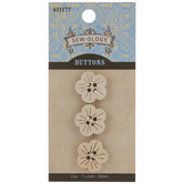 Coconut Flower Buttons - 18mm
