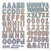 Holographic Silver Franklin Alphabet Stickers