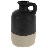 Black Two-Tone Cylinder Jug