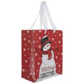 Merry Christmas Snowman Gift Bag