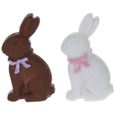 Brown & White Bunny Embellishments