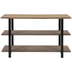 Three-Tiered Rustic Wood Console Table