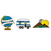 Travel Enamel Pins