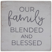 Our Family Blended & Blessed Wood Photo Cube