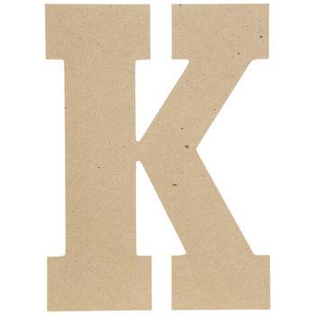 """Wood Letter K - 13"""""""