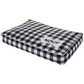 Black & White Buffalo Check Plush Dog Bed