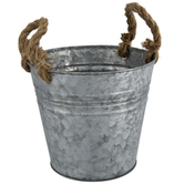 Metal Container With Rope Handles