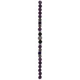Purple Sesame Jasper & Lava Bead Strand