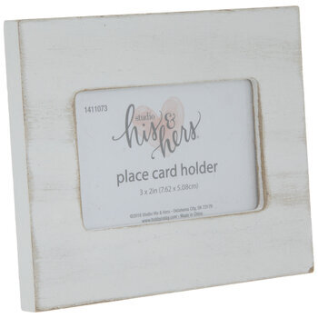Wood Frame Place Card Holder