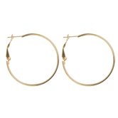 18K Gold Plated Hoop Earrings - 35mm