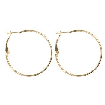 18K Gold Plated Hoop Earrings - 35mm