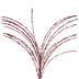 Dark Red Glitter Grass Pick