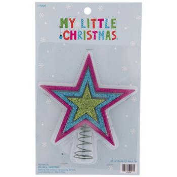 Light Green Glitter Star Mini Tree Topper