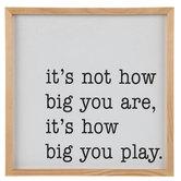How Big You Play Wood Wall Decor