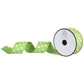 """Lime Swiss Dot Grosgrain Ribbon - 1 1/2"""""""