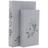 White & Green Floral Book Box Set