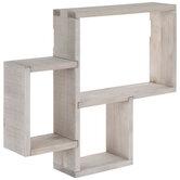 Rectangle Trio Wood Wall Shelf