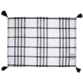 White & Black Plaid Placemat