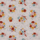 Mustard, Mint & Orange Floral Cotton Calico Fabric