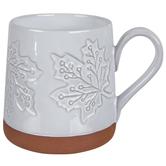 White Maple Leaf Mug