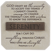Serenity Prayer & Philippians 4:13 Decor