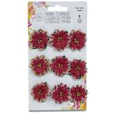 Poinsettia Flower Embellishments