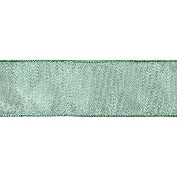 "Metallic Green Wired Edge Sheer Ribbon - 2 1/2"""