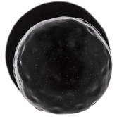 Black Round Hammered Metal Knob