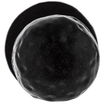 Black Round Hammered Metal Knob