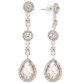 Drop Pendant Rhinestone Earrings