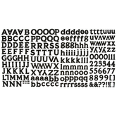 Black Monster Alphabet Stickers