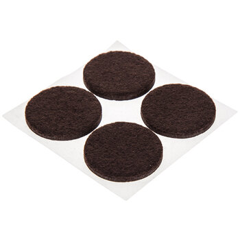 Brown Round Felt Pads