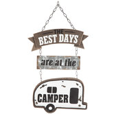 Best Days Camper Metal Wall Decor