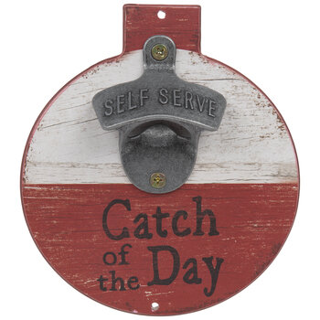 Catch Of The Day Bobber Wall Bottle Opener