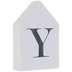 White & Black Letter House Wood Wall Decor - Y