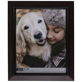 "Dark Walnut Two-Tone Wood Wall Frame - 14"" x 18"""