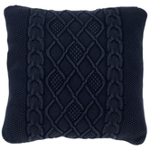 Navy Trellis Knit Pillow Cover