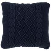 Navy Trellis Knit Pillow Cover