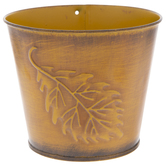 Embossed Leaf Metal Container