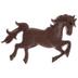 Dark Brown Horse Shank Buttons