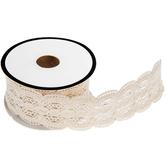"""Ecru Scalloped Lace Trim - 1 1/4"""""""