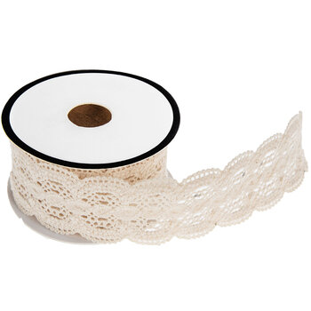 Ecru Scalloped Lace Trim - 1 1/4""