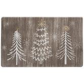 Rustic Pine Trees Doormat