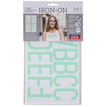Vinyl Letter Iron-On Applique Alphabet
