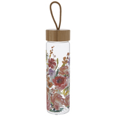 Dolly Parton Floral Glass Water Bottle