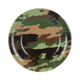 Camouflage Paper Plates - Small
