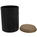 Matte Black & Brown Textured Canister - Large