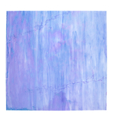 """Iridescent Pale Blue & Transparent White Swirled Stained Glass Sheet - 12"""" x 12"""""""