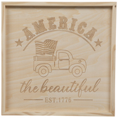 Patriotic Truck Wood Wall Decor