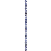 Blue Sodalite Round Faceted Bead Strand